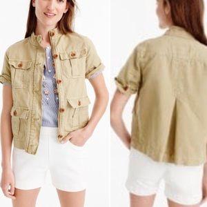 ⬇️ J.Crew Safari Shirt khaki short sleeve Jacket